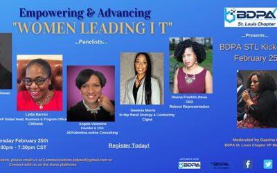 "BDPA STL 2021 Kickoff – ""Women Leading I T"" Empowering & Advancing"